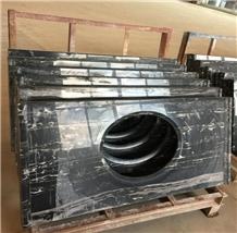 China Port Black Marble Polished Countertop Vanity