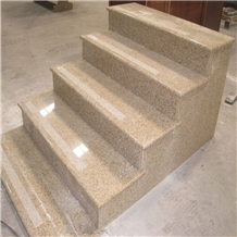 China Sunset Glold Granite Steps, Stairs, Riser,