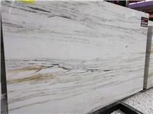 China White Stripes Onyx Interior Decor