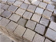 China Yellow Granite Cube Paving Stone