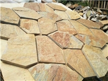 Chinese Natural Random Slate Stone Paving Tile