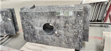 Commercial Romantic Grey Marble Bar Countertops