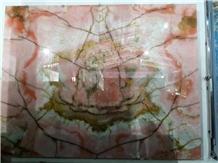 Crystal Pink Onyx Stone Slabs