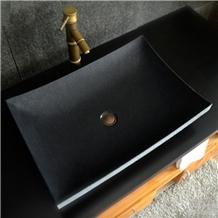 G684 Black Granite Stone Bathroom Veseel Sink