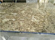 Golden Yellow Granite Polished Slabs for Vanitytop