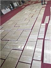 Honed Iran Mahallat Beige Travertine Floor Tiles