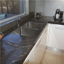 India Black Marquina Marble Polished Countertop