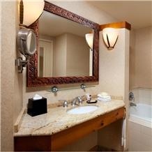 Indian Kashmir Gold Granite Bathroom Countertop