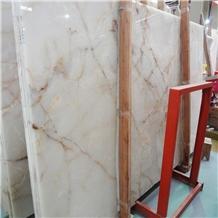 Iran White Onice Bianco Onyx Slabs