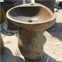 Irregular China Yellow River Stone Vessel Sink