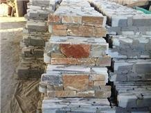 Irregular Shape Slate Ledger Stone Feature Wall