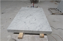 Italy Carrara Marble Master Bathroom Vanity Tops