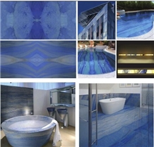 Luxury Blue Stone for Table, Feature Wall, Floor