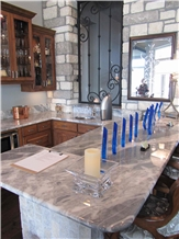 Namibia Calacatta Blue Marble Polished Countertop