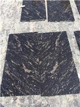 Polished Black Gold Cloud Tiles for Floor