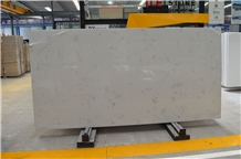 Polished Carrara White Quartz Kichen Bathroom Slab