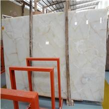 Polished Cheap Iran White Onyx Stone Slabs