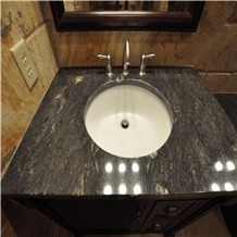 Polished China Titanium Granite Vanity Tops