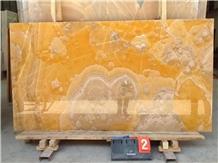Polished Iran Orange Bojnord Onyx Slabs