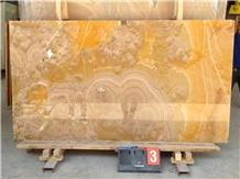 Polished Iran Orange Onyx Stone Slabs