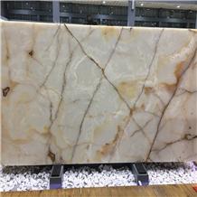Polished Iran White Snow Onyx Stone Slabs