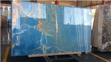 Polished Natural Iran Dream Ocean Onyx Stone Slabs