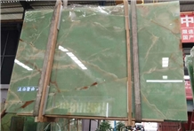 Polished Natural Iran Light Green Onyx Slabs Price