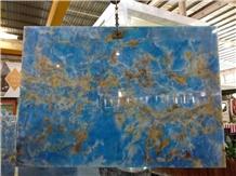 Polished Natural Pakistan Blue Onyx Stone Slabs
