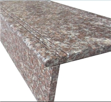 Polished Peach Red Granite for Stairs,Steps