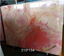 Polished Pink Crystal Semi-Precious Stone Slabs