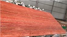 Polished Turkey Arizona Red Travertine Stone Slabs
