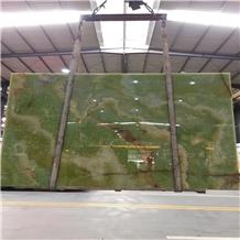 Polished Verde Afghanistan Green Onyx Wall Slabs