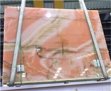 Polished Wholesale Orange Onyx Stone Slabs