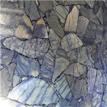 Semi Precious Azul Macauba Stone Wall
