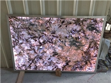 Semi Precious Stone Slabs Backlit Customized