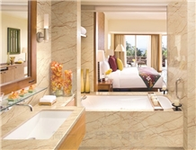 Turkey Sofitel Gold Marble Bathroom Countertops