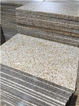 Yellow Granite Flamed Tiles Paver for Flooring