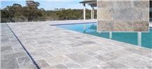 Premium Silver Travertine Pool Terrace Pavers