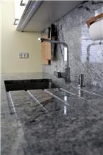 Kuppam Grey Granite Kitchen Countertop