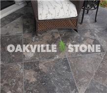Oakville Algonquin Brown Limestone Floor Tiles