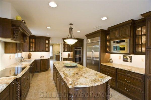 outlet store 8504e 7dada Mascarello Gold Granite Kitchen Island Countertop from ...