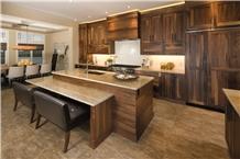 Madre Perola Natural Quartzite Kitchen