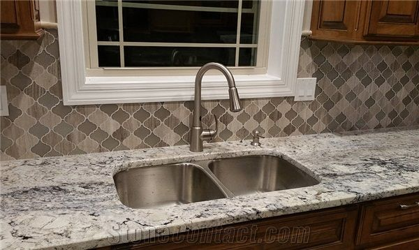 White Ice Granite Kitchen Perimeter Countertop From United States