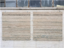 Travertino Romano Alga Longarina Slabs,Tiles