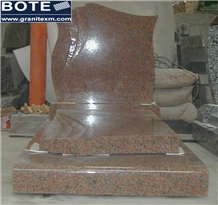 Maple Red G562 French Style Granite Tombstones