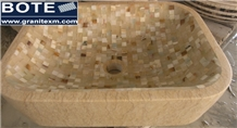 Marble Mosaic Wash Basin Sinks