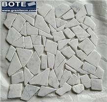 Palladian Marble Mosaic Tile Carrara White