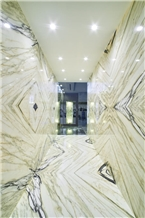 Green Clivia Landscaping White Marble Slabs,Machine Cutting Panel Wall Tiles,Floor Tiles