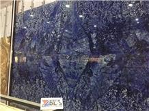 Blue Sodalite Granite Slabs Building Stone Tiles
