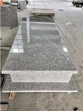 China New G655 White Granite Cemetery Tombstone